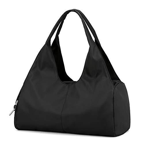 Sporttasche Reisetasche mit Schuhfach & Nassfach Wasserdicht Fitnesstasche Trainingstasche Weekender Damen Multifunktionale Handgepäck Tasche für Männer und Frauen(Schwarz)