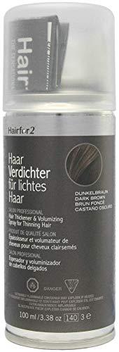 Hairfor2 Haarverdichtungsspray gegen lichtes Haar (100ml) (dunkelbraun)