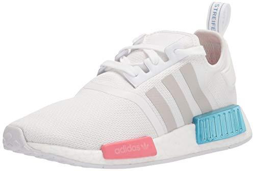 adidas Originals womens Nmd_r1 Sneaker, White/Grey/Hazy Rose, 8 US