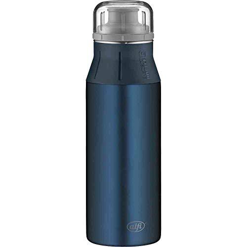 alfi elementBottle 600ml, Edelstahlflasche Pure blau, dicht, spülmaschinenfest, BPA-Frei, Wasserflasche 5357.211.060, Trinkflasche Edelstahl für Kinder, Schule, Sport, Flasche für Schorle