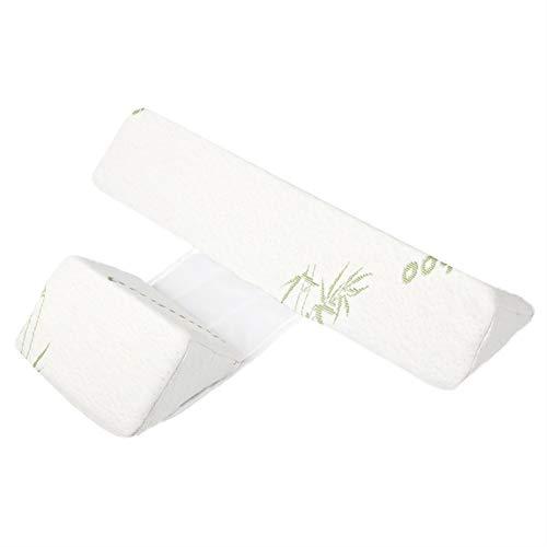Aiboria Baby Schlafkissen Anti-Roll für Neugeborene Seite Schlaf Positionierer, 3D Gedächtnisschaum Baby Flachkopfkissen für Neugeborene Seitenstützkissen (weiß)