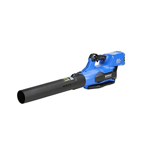 KB Kobalt 80-Volt Max Lithium Ion 630-CFM Brushless Cordless Electric Leaf Blower (Battery Included)