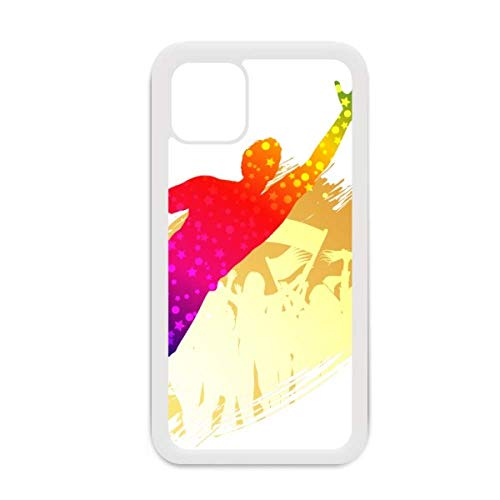 Funda para iPhone 12 Pro Max con diseño de portero de fútbol y bloques de fútbol para Apple Mini, color blanco