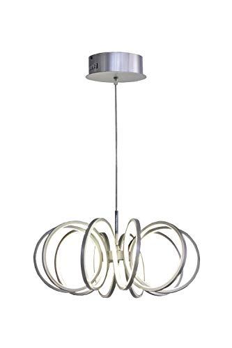 Mimax Lighting Pendelleuchte Shine 2, Aluminium, 40W, 35x 15x 120cm, silber