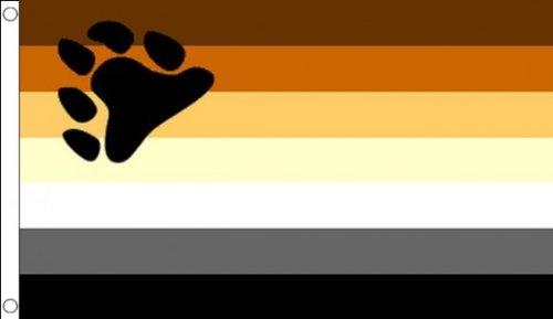 AZ FLAG Flagge Regenbogen BÄR 150x90cm - SCHWUL Fahne 90 x 150 cm - flaggen Top Qualität