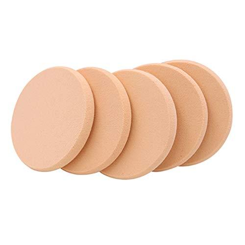 KaariFirefly Lot de 5 houppettes à poudre, éponge douce pour le visage, fond de teint, éponge lisse, outil de beauté rond