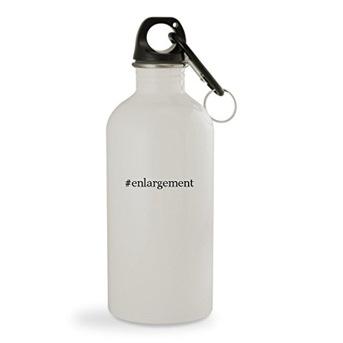 #enlargement - 20oz Hashtag White Sturdy Stainless Steel Water Bottle with Carabiner