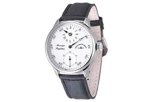 Zeno-Watch Herrenuhr - Godat II Regulator White - 6274Reg-e2
