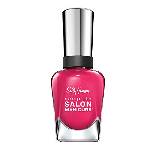Sally Hansen Complete Salon Manicure Nagellack, Farbe 542, Cherry Up, magenta, 1er Pack (1 x 15 ml)
