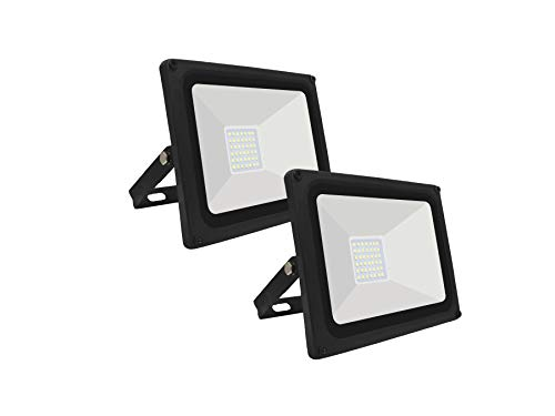 SET di 2 Faro Led FLOODLIGHT PEGASO da esterno IP65 (LUCE FREDDA 6000K, 30W)