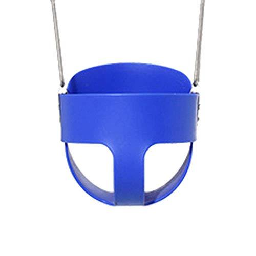 XIUYU Kinderschaukel Aktivitäten Armlehnen Baby Basket Sicherheit Fun Lanyard Einfache Installation (Color : Blue)