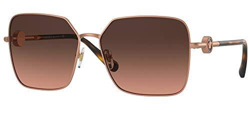 Versace Occhiali da Sole ENAMEL MEDUSA VE 2227 Rose Gold/Grey Brown Shaded 59/15/140 donna