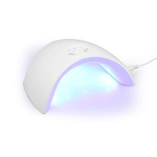 Anself 36W UV Lampe Gelnägel Nageltrockner Infrarot Sensor Tragbarer UV Nagellampe LED 365nm + 405nm für Gel Nagellack 3 Timer(30s/60s/90s) (Weiß)