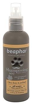 BEAPHAR – Spray Shampoing Sec ultra-doux pour chien – Extraits naturels d'Aloe Vera et de l'eau de Framboise – Fortifie et redonne de l'éclat au poil – Prêt à l'emploi, sans rinçage – 200 ml