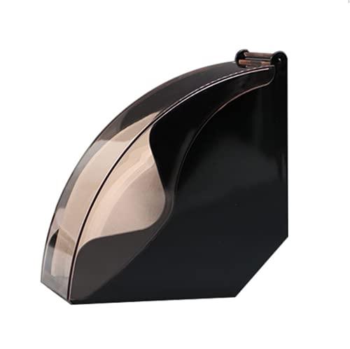 Portafiltros de café para café, dispensador de papel renovable, para bolsas de filtro, color negro