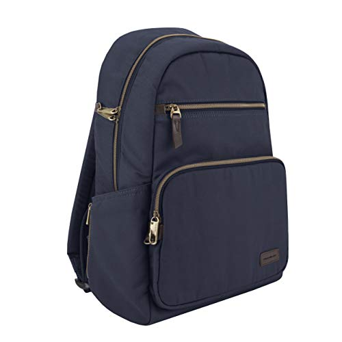 Travelon Anti-Theft Courier Slim Backpack, Navy, One Size