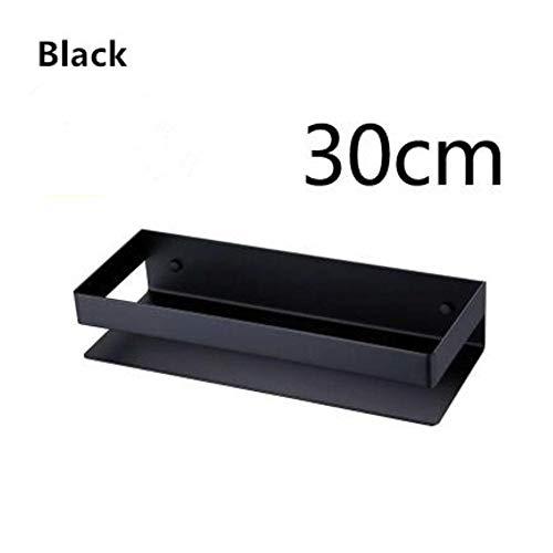 XCVB Badkamer Shampoo Planken Keuken Wandrek Douche Opbergrek Badkamer Accessoires 304 Roestvrij Staal Zwart of Nikkel, zwart 30cm