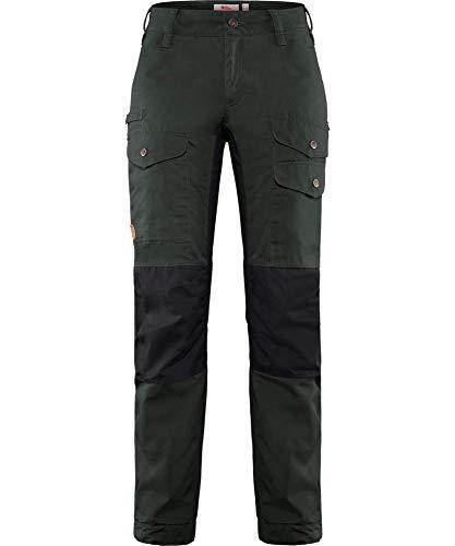 Fjallraven Damen Vidda Pro Ventilated TRS W Reg Sport Trousers, Dark Grey-Black, 38