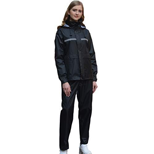 Comcrib Damen Herren Regenanzug Regenhose Regenmantel Atmungsaktive Regenjacke mit Kapuze wasserdichte Regenjacke Wasserdichter Regenanzug mit Reflektierenden Streifen