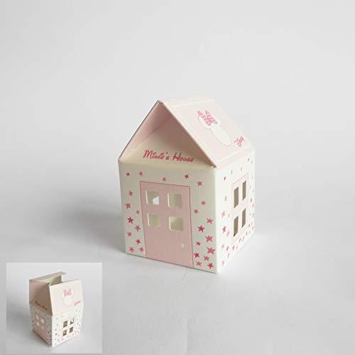 Bomboniera Scatola Casetta Confetti Minnie Disney Rosa set 20 pz art 68061