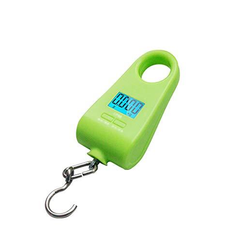 GYZ Balanza digital para equipaje, balanza de pesca, balanza de colgar, mini balanza electrónica portátil, pantalla LCD retroiluminada de alta precisión, verde, adecuada para viajes, hogar, ex