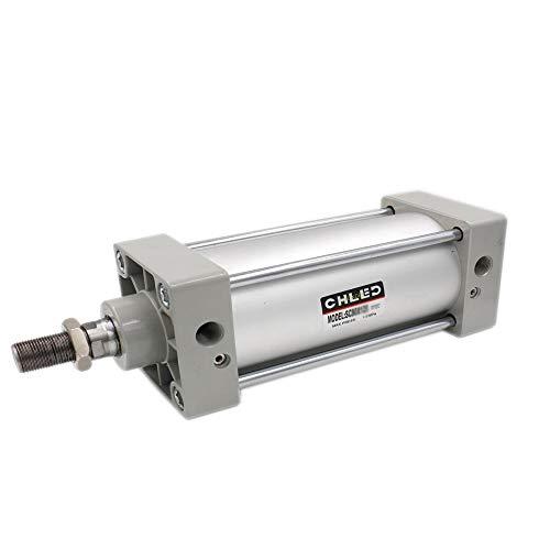 ETial Cilindro de aire neumático SC 80 x 250 PT 3/8 Vástago de pistón atornillado Calibre de doble acción: 80 mm Carrera: 250 mm