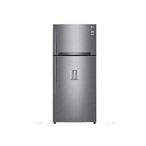 LG GTF916PZPYD Frigorifero Smart Doppia Porta Total No Frost con Congelatore, 592 L, 38 dB, Tecnologia Multi Air Flow, Linear Cooling, Door Cooling - Frigo con Freezer, Wi-Fi e Display LED