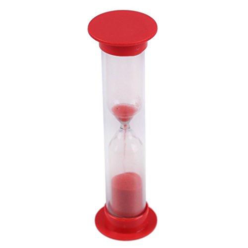 Preisvergleich Produktbild TOOGOO(R)1 Minute nett Plastik Stundenglas Zeitschaltuhr rot