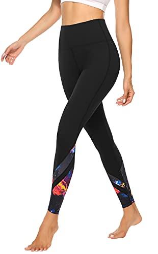 JOYSPELS Sporthose Damen Yogahose Sportleggins Sport Leggings High Waist Leggins Hose, Sternenhimmel, M