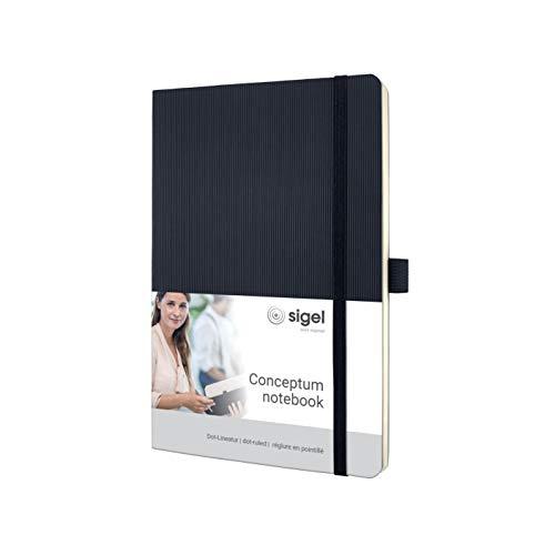 SIGEL CO309 Notizbuch Medium, dotted, Softcover schwarz, 194 Seiten, Conceptum - weitere Modelle