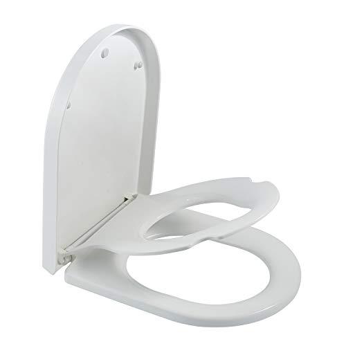 Familien-WC-Sitze mit eingebautem Kindersitz, D-Form, für Kinder, Absenkautomatik, Quick-Release-Toilettendeckel, Toilettentraining, Toilettensitz, Top-Befestigung