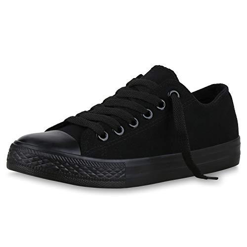 SCARPE VITA Sportieve Dames Low Sneakers Prints Comfortabel Veters Schoenen 174188 Zwart Zwart 38