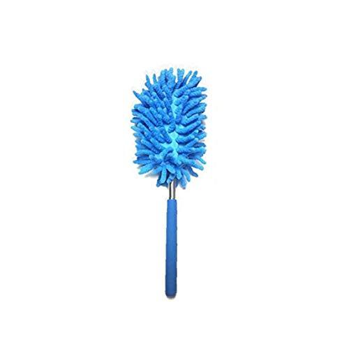 Retractable Staubpinsel Teleskop Mikrofaser-Duster Multifunktionale Chenillegarnen Duster für Auto-Haus-Reinigungsbürste Blau