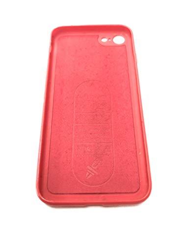 Haobuy Custodia iPhone 7/8,Cover Magnetica per Supporto Magnetico Auto con Piastra Metallica Incorporata, Custodia Protettiva Anti-graffio TPU Antiurto per iPhone 7/8 [Rosso]