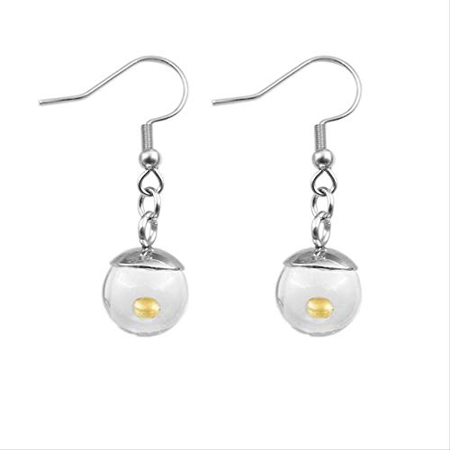 Handmade Real Mustard Seed Earrings Epoxy Ball Faith Drop Earrings For Women Christian Jewelry Gift