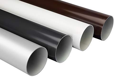 Fallrohre - Regenfallrohr, 75mm Kunststoff PVC, bis zu 100 Meter, in 4 modernen Farben - RainWay90 (10 Meter, anthrazit)