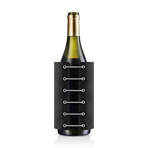 EVA SOLO 567475 Weinkühler, Integriertes Kühlgel, Nylon, Schwarz, 16 x 12,4 x 3,8 cm
