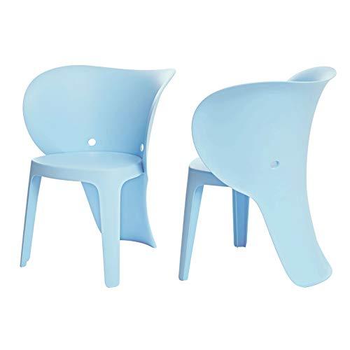 SoBuy KMB12-Bx2 Lot de 2 Chaise Enfant Design Chaise Pour Enfants Siège Garçons et Filles Confortable Éléphant Bleu Clair - Haute Qualité
