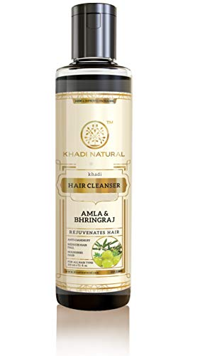 Khadi Natural Ayurvedic Amla and Bhringraj Hair Cleanser(Shampoo), 210ml