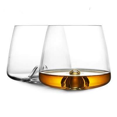 Designer Whiseddy Swirl Whisky Rock Glass Verre Whiskey Tumbler XO Chivas Cognac Brandy Snifter Red Wine Drinking Glasses Cup Wine glass (Capacity : 300ml 13oz, Color : 2 Pcs)
