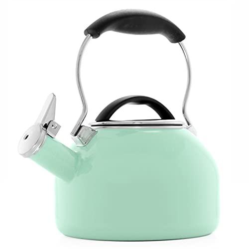 Chantal Oolong 1.8 quart Enamel on Steel Whistling Tea Kettle, Sage Green is $39.95 (20% off)