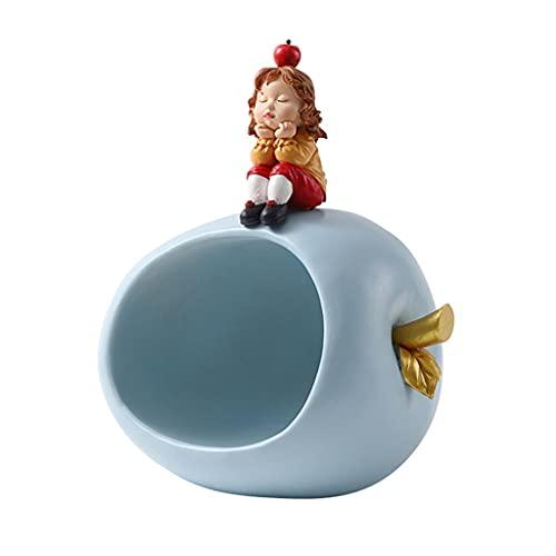 Cuenco de llaves, Vaciabolsillos Accesorios de escritorio para el hogar con adornos decorativos nórdicos, Organizador de mesita de noche, Organizador de escritorio Candy Home Porch ( Color : Blue-2 )