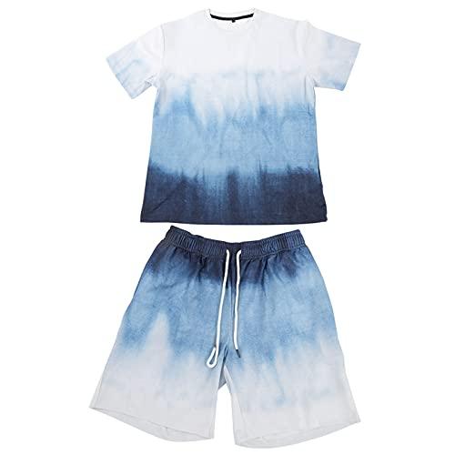 Hztyyier Camiseta con Estampado de Verano para niños Camisa de natación de Manga Corta y Traje de baño Conjunto de Traje de baño Camisa de Manga Corta Informal Traje de bañador(XL)