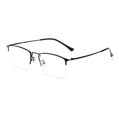 HQMGLASSES Gafas Lectura para Exteriores fotocromáticas multifocales progresivas Titanio Puro para Hombres, Gafas de Sol portátiles ultraligeras adecuadas para Oficina/conducción dioptría,Negro,+1.0