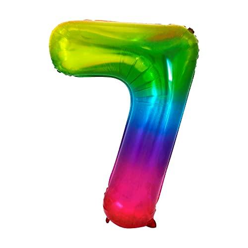 LASE C9, Globos de Cumpleaños de Números Multicolor, Metalizados. Incluye Inflador y pegatinas adhesivas. Decoración para Fiestas de Niños y Adultos. Happy Birthday 86cm (7)