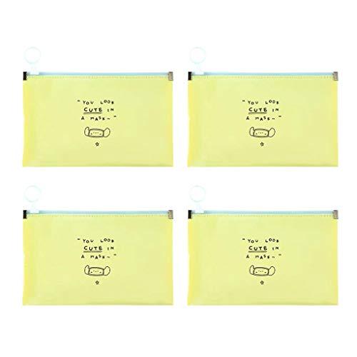 Praktische Aufbewahrungstasche für Gesundheits m0ske, wasserdichte Isolierflecken Sauber halten Tragbarer Organizer Faltbare Trage Mvskenbox(Yellow,8PC)