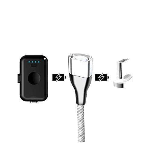 wwyy Mini Banco de Poder portátil magnético USB Tipo C 1200mAh Mini imán Cargador rápido batería Externa, para iPhone iPad Xiaomi Samsung (Color : Black for Type C)