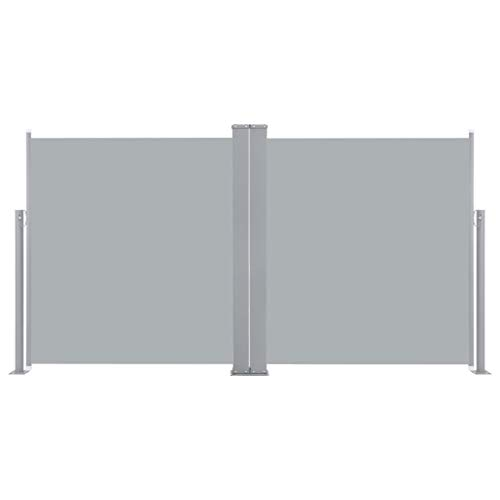 yorten Ausziehbare Seitenmarkise Seitenmarkise Zertifiziert Sonnenschutz Sichtschutz Balkon Garten Terrasse 120 x 600 cm Anthrazit