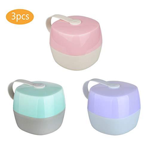 Sprießen 3 Schnuller-Aufbewahrungsboxen, Tragbare Staubdichte Transparente Baby-Schnullerbox, BPA-frei, geeignet für die tägliche Aufbewahrung von Schnullern verschiedener Stile