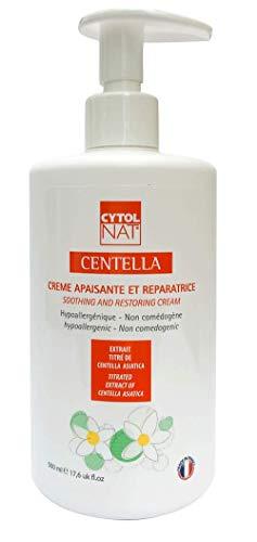 CYTOLNAT Centella 500 ml - Frasco bomba de uso profesional - Crema reparadora y calmante – Centella Asiática – Hipoalergénica y no comedogénica
